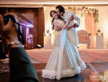 Celebrity Niti Taylor and her fiance caught in a candid moment on her engagement.
