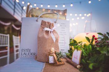 Burlap Sacs Favor Bag with Estee Lauder Gifts