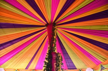Colorful Canopy and Floral Decor