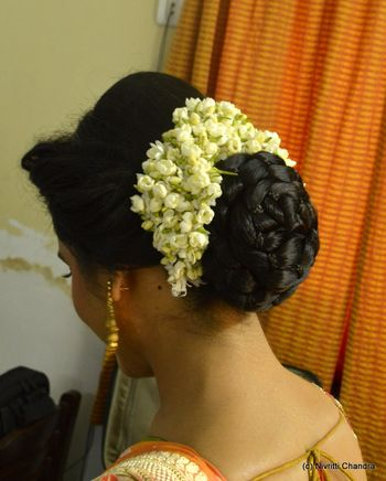 Braided Bun with Gajra
