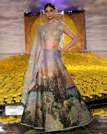 Embellished lehenga for an engagement