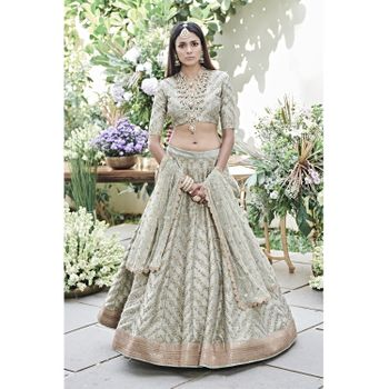 offbeat sage sangeet or reception lehenga