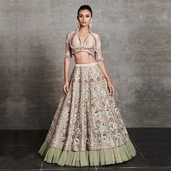 Photo of Pastel pink lehenga for the new age bride.