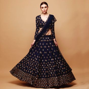 Photo of Perfect lehenga for an engagment or a cocktail night.