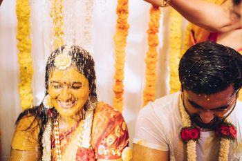 Bride & groom on their haldi