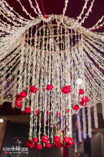 Photo of White and Red Floral Chandelier