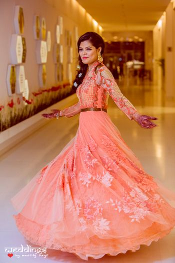 Peach Light Twirling Gown