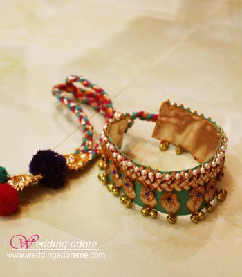 Turquoise and Red Gota Bracelet