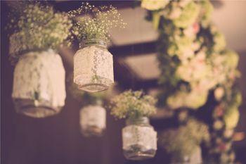 Hanging Mason Jars Floral Decor