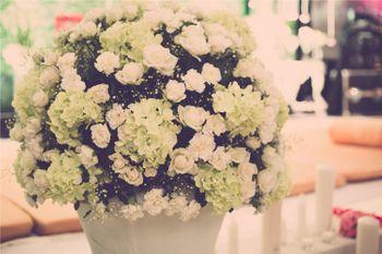 White Floral Table Centerpiece Decor