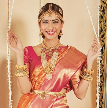South Indian bride in stunning jewellery.