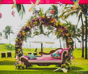A floral decor for mehndi