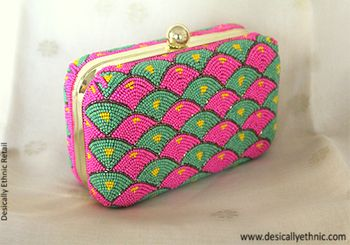 funky clutches for mehendi favors