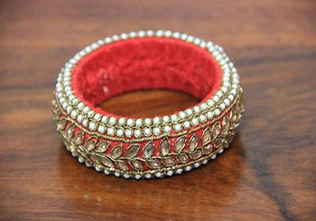Photo of fabric bangle at mehendi