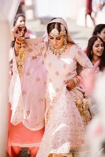 Intimate bridal entry shot