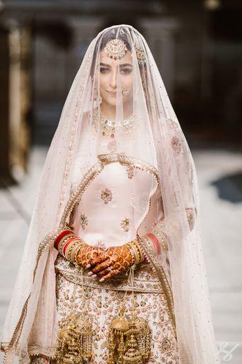 Bride under a veil shot