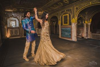 Dancing Couple Shot in a Palace