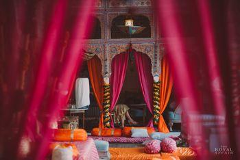 Pink and Orange Themed Palace Wedding Decor