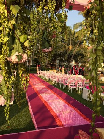 Photo of wedding ceremony decor