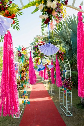 Pink and White Floral Entrance Decor