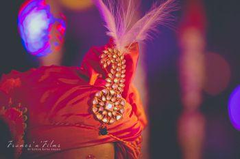 Gold Kundan Klagi with Red Safa