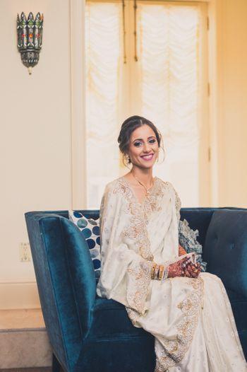 White Saree Bride