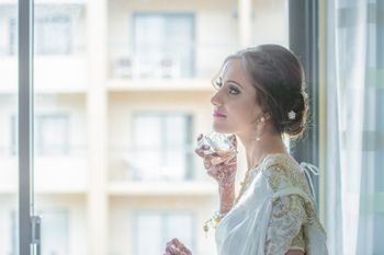 Bride Wearing Perfume Shot