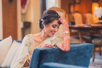 Bride Smiling Candid Shot