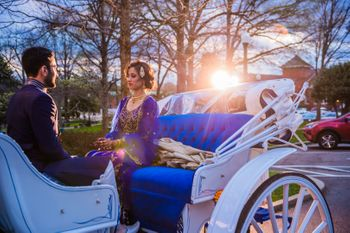 Couple on a Horse Carriage Shot