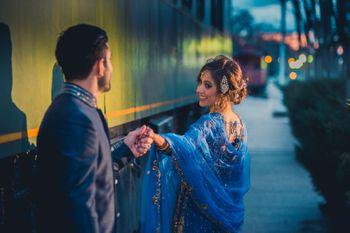 Couple Holding Hands Romantic Shot