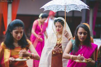Bride Entry with Umbrella
