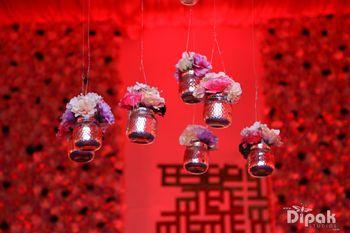 Hanging Floral Mason Jars Decor