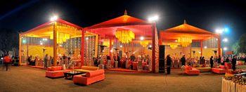 Orange Tents Decor
