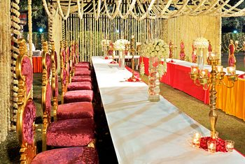 Photo of Table Settings Decor - Gold Candelabras