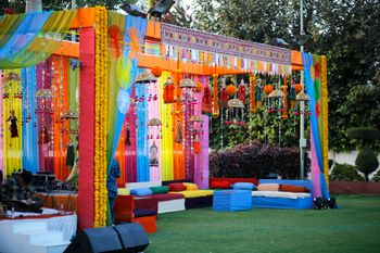 Traditional Colorful Mehendi Decor