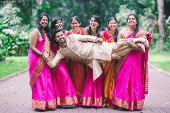 Photo of fun bridesmaids portrait
