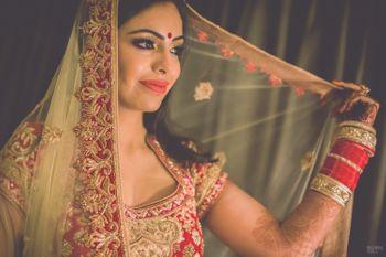 Photo of Bride in a Veil Shot