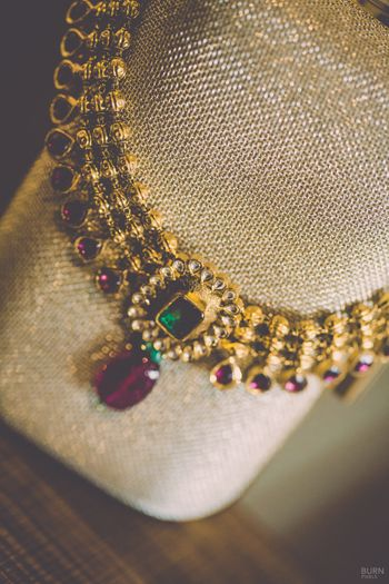 Photo of Gold Ruby Necklace with Emerald and Diamonds