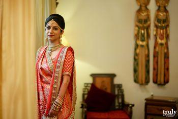 Bride in Red Lehenga