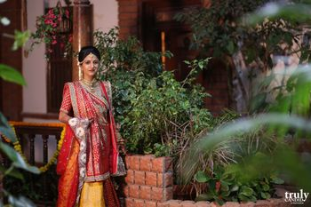 Bride in Red and Yellow Lehenga