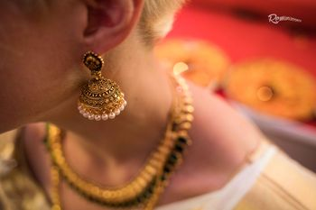 Gold and Pearls Jhumkis