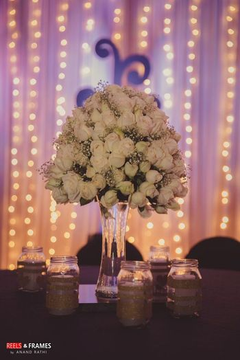 White Roses Table Centerpiece