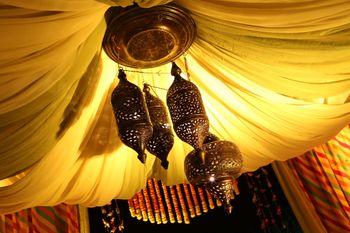 Moroccan theme decor ceiling