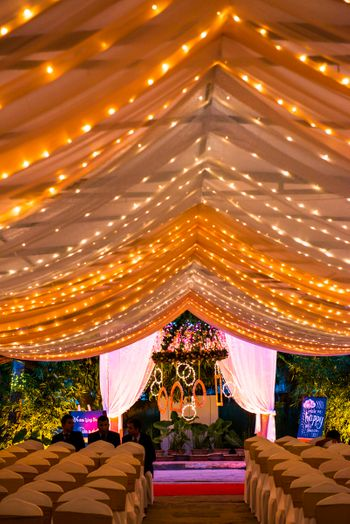 Fairy Lights Canopy Tent Decor