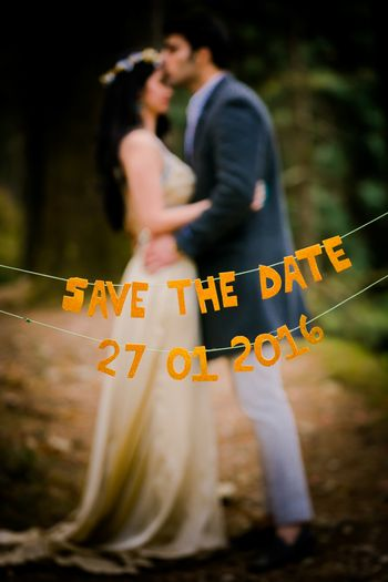 Save the Date with String and Letter Cut Outs