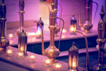 Arabian Lamps and Lanterns with Tealights and Candles