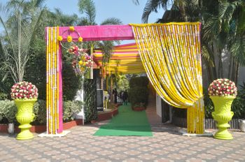 Photo of floral entrance decor