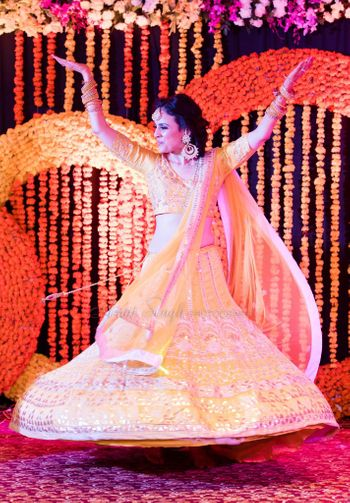 Yellow with Gota Patti Twirling Lehenga