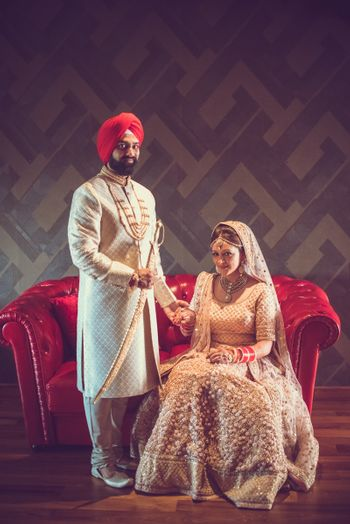 Photo of Sikh Couple Traditional Shot