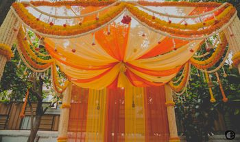 Photo of Orange and Yellow Cainpy Tent